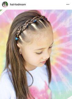 Cute Toddler Hairstyles, Easy Little Girl Hairstyles, Cute Girls Hairstyles, Braided Crown Hairstyles, Side Hairstyles, Girl Hair Dos, Hair Upstyles, Hair Ideas, Hair Makeup