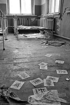 Abandoned kindergarten in the ghost town of Chernobyl.