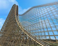 El Toro at Six Flags Great Adventure - sick wooden roller coaster.