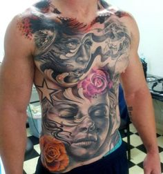 Tattoos on pinterest landscape tattoo vikings and chest for Chest plate tattoos