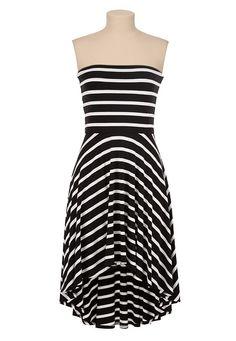 Smocked top printed high-low tube dress (original price, $34 ...