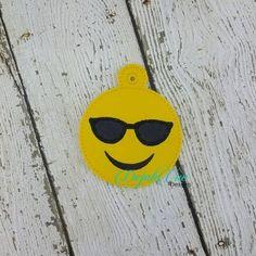 emoji with sunglasses ornament