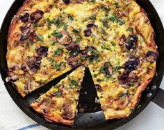 Frittatas are excellent served warm or at room temperature, which means that this meatless main is a perfect do-ahead dish.