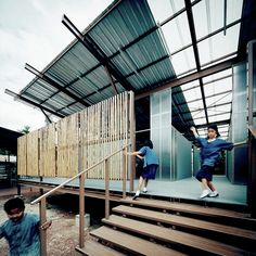 Completed in 2015 in Thailand. Images by Spaceshift Studio. On May 5th, 2014, a strong earthquake of 6.3 Richter struck Chiang Rai Province in the North of Thailand, destroying 73 schools affecting over two...