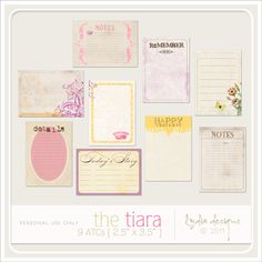 The Tiara ATCs by Lydia Designs at Scrapflower