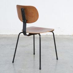 Industrial Chair by Willy Van Der Meeren for Tubax, 1950s
