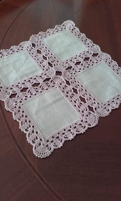Handmade Crochet Cotton Lace Table Runner And Dresser Sca. Crochet Bedspread, Crochet Fabric, Crochet Quilt, Crochet Cushions, Crochet Tablecloth, Hand Crochet, Free Crochet, Crochet Lace Edging, Crochet Borders