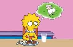 Lisa's thinking about that poor little lamb...