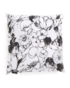 20x20 Floral Reversible Pillow