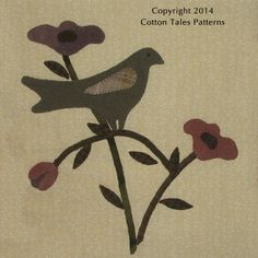 Sophie's Garden New! Coming Soon from Cotton Tales Patterns Bird Applique, Wool Applique, Applique Patterns, Applique Quilts, Quilt Patterns, Applique Ideas, Quilting Projects, Quilting Designs, Penny Rug Patterns