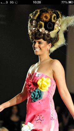 Level 3 hair show by Lauren 3rd place