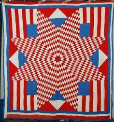 Selvage Blog: Patriotic Flag Quilt