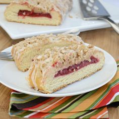Rich Coffee Cake with Raspberry Filling