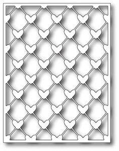 Poppystamps Die - Heart Lattice Background