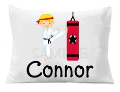 Karate  Personalized Pillow Case by TheTrendyButterfly on Etsy,
