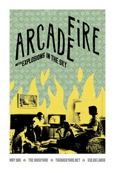 Arcade Fire Gig Posters by Bryan Schmidt, via Behance Event Poster Design, Creative Poster Design, Tour Posters, Band Posters, Music Posters, Arcade Fire, Nature Posters, Expressive Art, Minimalist Poster