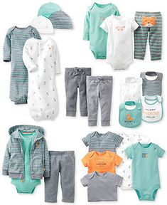 Carter's Baby Boys' Fox Friends Gift Bundle - Kids - Macy's ---> Got the sleeper gowns today!! Totally have to get the hats and mittens!