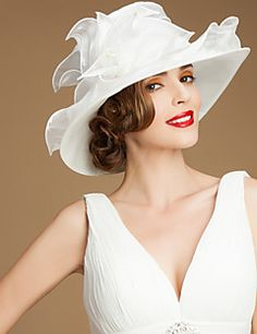 Gorgeous Organza With Sequin Wedding Honeymoon Hat Mali Nora Light In The Box