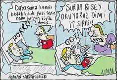 Çocuğuna Hikaye Okuyan Baba Karikatürü Ayrıkan Karikatürleri