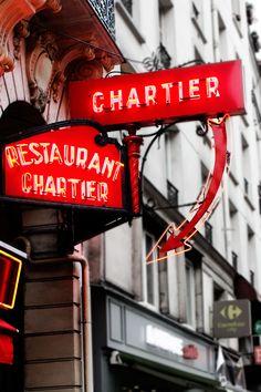 Restaurant Chartier | Love & Adventure Nocturne, Spa, Paris Restaurants, Night Life, Neon Signs, Adventure, City, Cafe De Flore, Cities