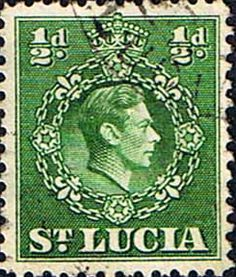 St Lucia 1938 King George VI SG 128 Fine Used SG Scott 110a Other fine Stamps for collectors here