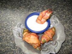 These stuffed jalapenos are great as party food or as appetizers.