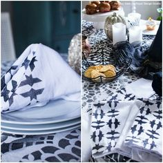 DIY Tutorial: Stencil a Chic Halloween Party Table Decor using Royal Design Studio Holiday Stencils