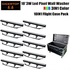 1050.00$  Buy here - http://aitn5.worlditems.win/all/product.php?id=32418167333 - Gigertop TP-WP18B LED Wall Washer RGB 80W 18X3W LED lamp LED Flood Light Staining Light Pixel Barlight Black Case LED floodlight