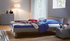 Bett HASENA MOVIE-LINE Star Gardo Lazy Bettgestell, Doppelbett - Wunderschöne Schlafzimmermöbel