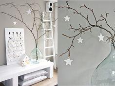 decoração de natal usando estrelas - Pesquisa Google