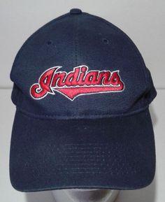 Vtg Cleveland Indians Logo 7 Adjustable Hat Cap One Size MLB Baseball Budweiser #Logo7 #ClevelandIndians