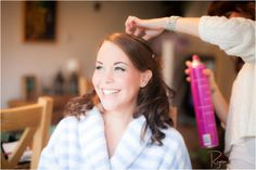 Bride getting ready - Bridal Hairstyles - Hair Down