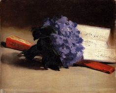 """Detail from """"Berthe Morisot with Violets"""", by Edouard Manet"""