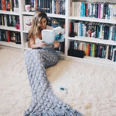 It's August, let us bask!Sandy toes and flipping the pages of a mermaid quest…Let's melt away in the summer heat filling our imaginations with underwater magic.I recently went looking for some new mermaid books, and I quickly learned tha. Mermaid Tail Blanket, Mermaid Diy, Yarn Bombing, Cute Pins, Summer Heat, Books, Ocean, Mermaids, Giveaway