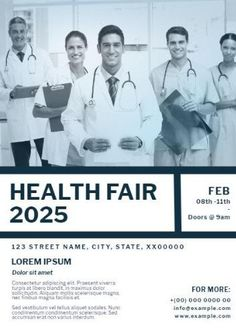A health fair being held and advertised through these poster templates that can be found in Design Wizard.