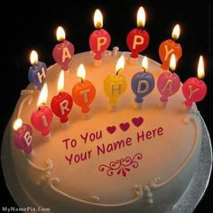 Candles Happy Birthday Cake With Name