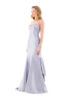 gray blue special occasion dress.