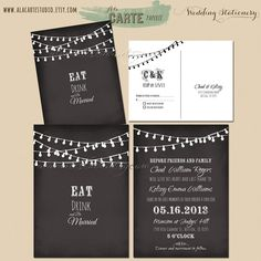 Invitations- eat drink and be married For this design email: olivesdesigns2@gmail.com