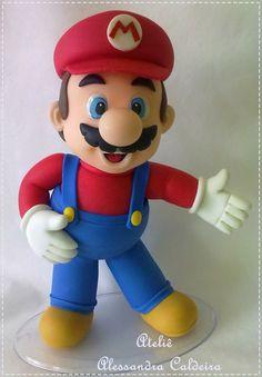 Mario bros cake topper