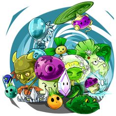 Zombies It& About Time! by placably on DeviantArt Plant Zombie, Zombie 2, P Vs Z, Pokemon, Warfare, Legos, Halloween, Chibi, Mint