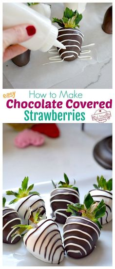 How to Make homemade DIY Chocolate Covered Strawberries that are beautiful and easy. Create designs to make the ultimate Chocolate Covered Strawberries for your loves on Valentine's Day or any special occasion. Making Chocolate Covered Strawberries, Chocolate Covered Treats, Mini Chocolate Chips, How To Make Chocolate, Best Chocolate, Homemade Chocolate, Wedding Strawberries, Chocolate Making, Chocolate Hazelnut