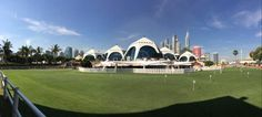 The Emirates Golf Course in Dubai is spectacular.