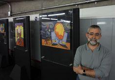 """Exposição """"Quadradinhos"""" Estação Santana do Metrô de São Paulo - nov/2014"""