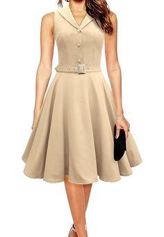 Amazon.com: TULIPTREND Women's 40s 50s Rockabilly Collared Swing Evening Party Dress: Clothing  https://www.amazon.com/gp/product/B01DU12POE/ref=as_li_qf_sp_asin_il_tl?ie=UTF8&tag=rockaclothsto-20&camp=1789&creative=9325&linkCode=as2&creativeASIN=B01DU12POE&linkId=a0a1575d03dc7f6cd5be42da7a320ba1