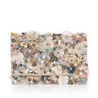 Accessorize | Katrina Floral Foldover Clutch Bag | Multi | One Size
