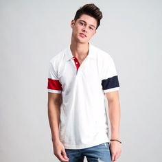 Rhys Miguel for BENCH/  #BENCHEveryday benchtm.com Daniel Padilla, Polo Shirt, T Shirt, Men's Fashion, Bench, Autumn, Mens Tops, Instagram, Supreme T Shirt