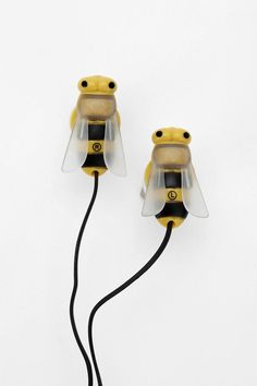 Bee earbud headphones -- no longer available, but there is a wishlist feature at the click-through.
