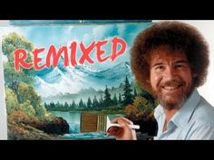 Bob Ross Remixed | Happy Little Clouds | PBS Digital Studios - YouTube Bob Ross Paintings, Happy Paintings, Pinturas Bob Ross, Bob Ross Youtube, Bob Ross Art, Happy Little Trees, The Joy Of Painting, Mountain Paintings, Hair Painting