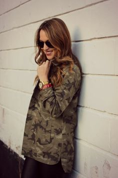 Ali & Kris #camo #jacket on OH SO GLAM!