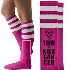 Soccer Breast Cancer Game American Apparel Socks at Customized Girl